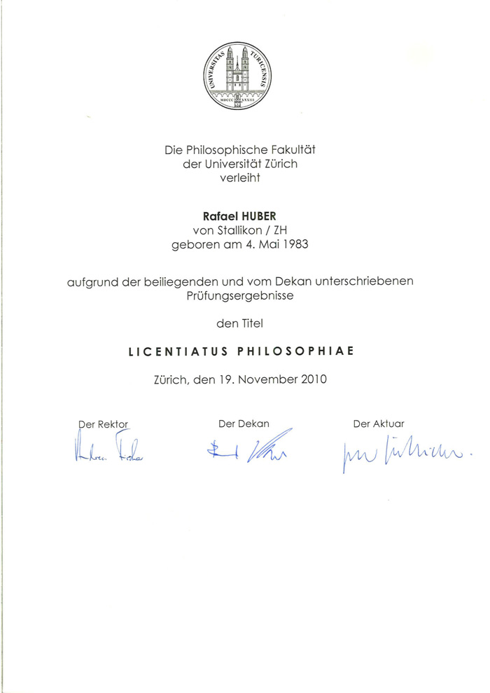 Licentiatus-Dr.Rafael-Huber